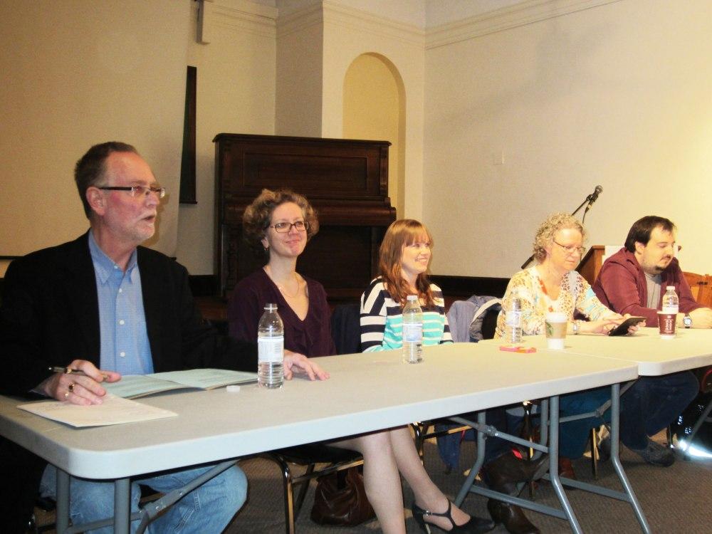 Our Moderator & President (Ian Howarth) with Panelists (Audrey McLaren McGoldrick, Aimee Wimbush-Bourque, Marijke Vroomen Durning & Steve Faguy