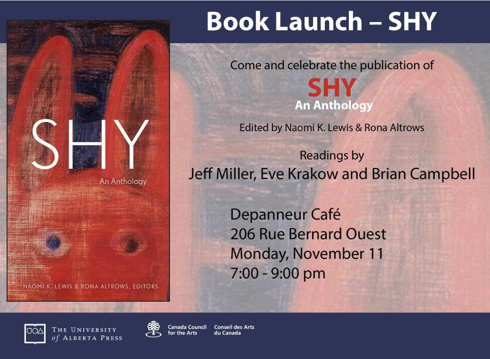 Shy Anthology Book Launch Poster