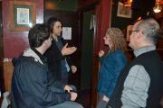 People talking in a pub