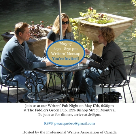May 176_30 - 8_30 pmWriters' MeetupYou're Invited!(1)